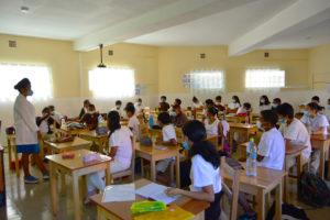 Classe de 5ème B avec PP Harisoa 2