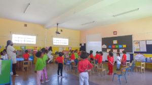 Rentrée des classes - Levée des drapeaux dans les salles de classe